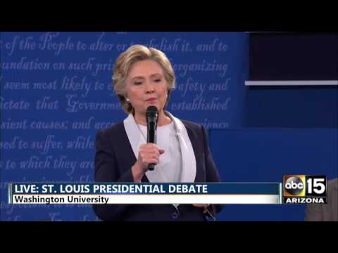Thumbnail: Presidential Debate - DT: Bc you'd be in jail! - Hillary Clinton vs. Donald Trump