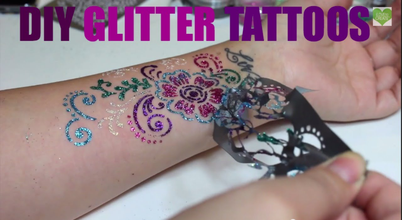 What is a glitter tattoo? How to make a tattoo 85