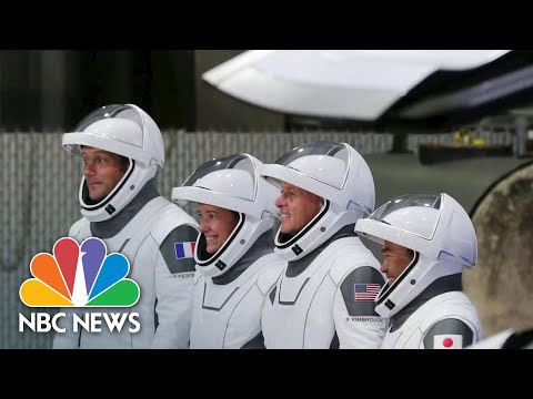 SpaceX Sends 4 Astronauts Into Space In Reused Rocket | NBC News NOW