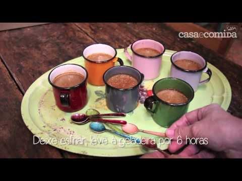 Potinho cremoso de café com leite