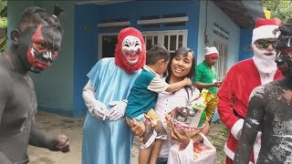 Lucu karung Pit Hitam buat Zefa,  Santa Claus Natal 2018 Manado