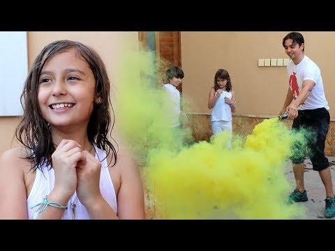 معركة الطباشير الملونة في بيتنا