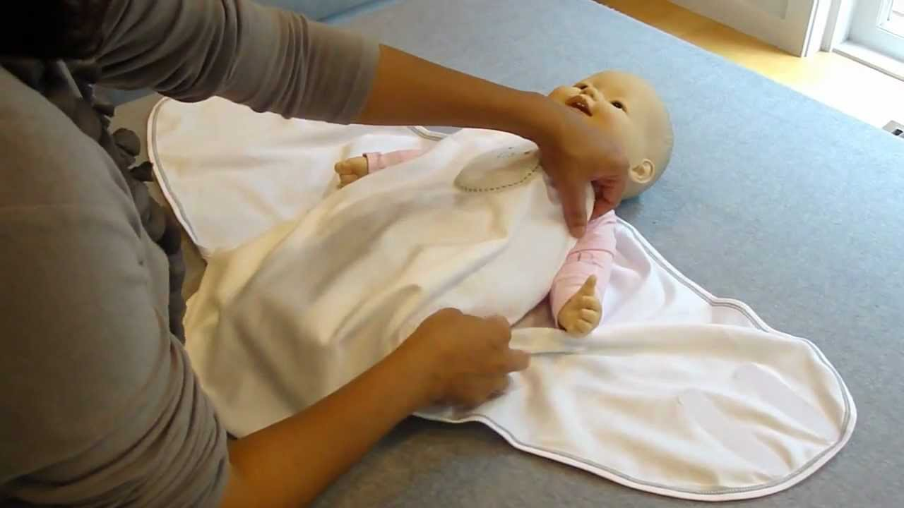 How To Swaddle A Baby Using The Zen Swaddle Youtube