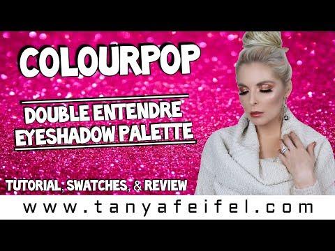 ColourPop Double Entendre Eyeshadow Palette | Tutorial, Swatches, & Review | Tanya Feifel-Rhodes