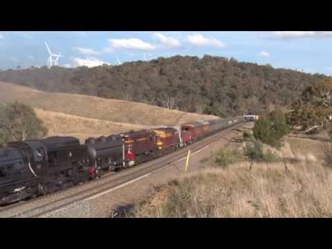 Australian Steam Trains: Beyer Garratt 6029 Winter Safari Return to Canberra - [Part 4]