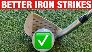 HOW TO STRIKE YOUR IRONS BETTER EVERYTIME! SIMPLE GOLF DRILL
