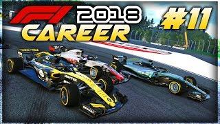 F1 2018 Career Mode Part 11: INTENSE GERMAN GP RACE! SO MUCH TRAFFIC!