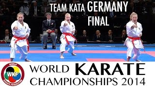 Final Female Team Kata GERMANY. 2014 World Karate Championships