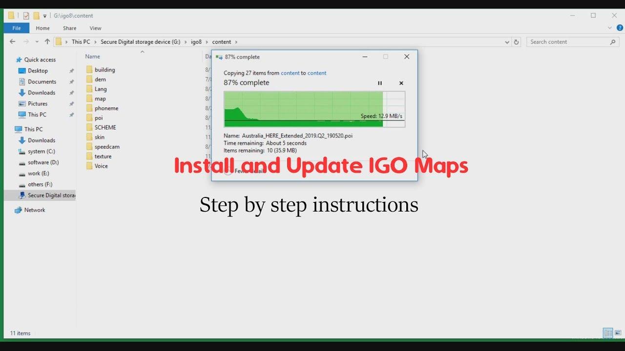 telecharger carte igo primo How To Install And Update IGo Primo Maps On SD Card?   YouTube