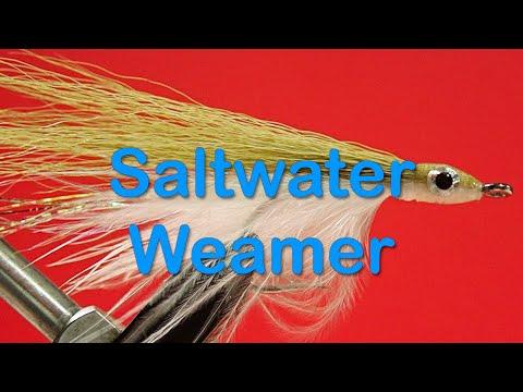 sea bass salt fishing flies Lefty/'s  Deceiver Red// white Pike pêche