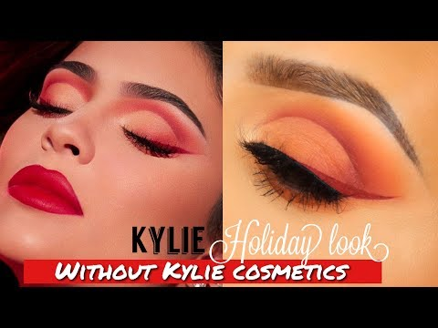 Kylie Jenner HOLIDAY makeup tutorial without Kylie cosmetics thumbnail