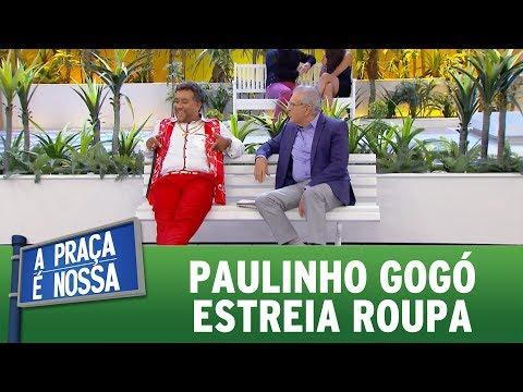 Paulinho Gogó estreia roupa | A Praça É Nossa (09/06/17)