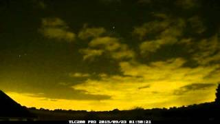 Night time-lapse of 22nd/23rd September 2015, Irlam