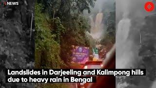 Landslides in Darjeeling and Kalimpong Hills Due To Heavy Rain in Bengal
