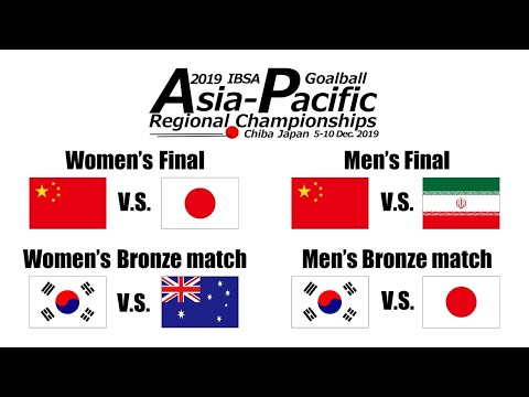 2019 IBSA Goalball Asia-Pacific Championships | Finals & Bronze medal matches |
