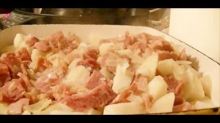 Recipe For Using Leftover Meats To Make Potato Casserole - Ham Potato Casserole