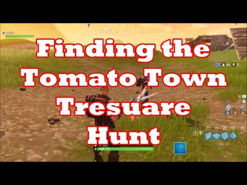 Finding The  Tomato Town Treasure In Fortnite