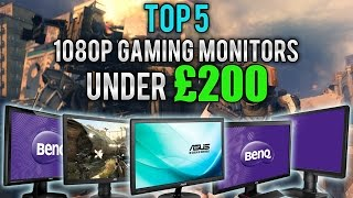 Top 5 1080p Gaming Monitors Under £200 | PC & Console | 60Hz/144Hz