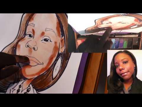 Caricature Color Demo- Lecturer's Chalk and Glove Technique
