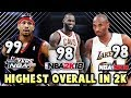 The HIGHEST RATED Players In EVERY NBA 2K Game  NBA 2K   NBA 2K18    NBA 2K18 Myteam Squad Builder