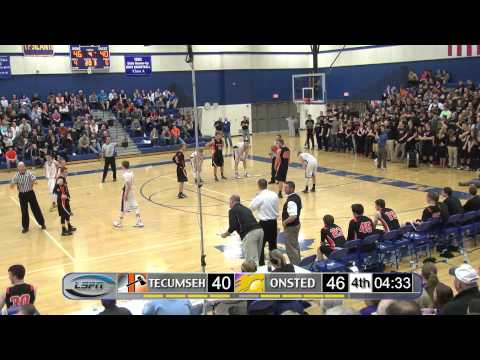 Tecumseh Indians vs Onsted Wildcats (Class B District Championship)