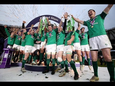 Ireland lift the trophy and celebrate their Grand Slam! | NatWest 6 Nations
