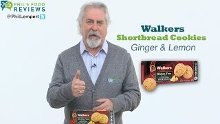 Walkers Gluten Free Shortbread Cookies Pure Butter Ginger & Lemon