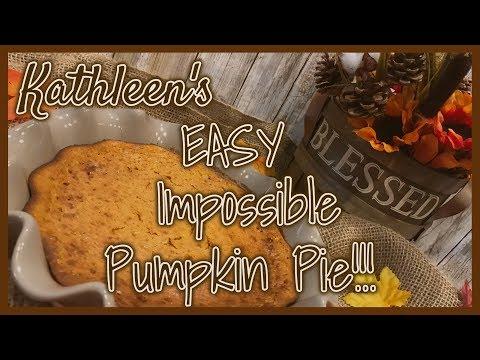 Kathleen's EASY Impossible Pumpkin Pie | BEST Pumpkin Pie