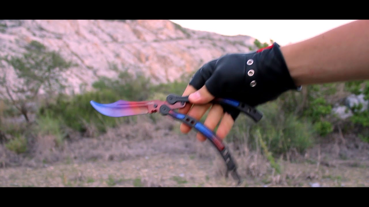 Real Marble Fade Butterfly Knife