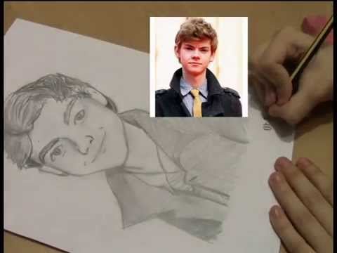 Trying To Draw Newt Thomas Sangster Youtube