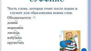 Русский язык, 3 класс - Состав слова