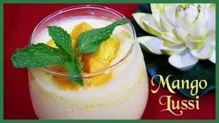 Mango Lassi or Mango Smoothie (Sweet Indian Yogurt Mango Drink)