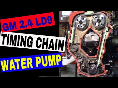 Water Pump & Timing Chain - Engine Rebuild 1999 Grand Am GM LD9 2.4 Quad 4  Twin Cam - Part 17 - YouTubeYouTube