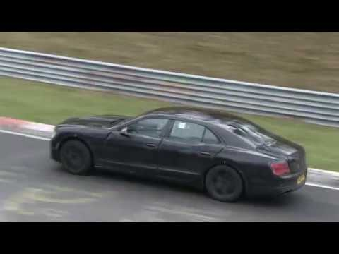 New Bentley Flying Spur Spy Video Youtube