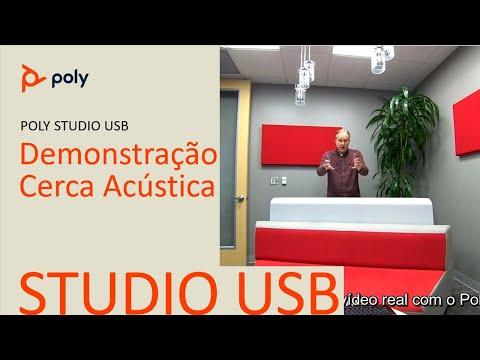 Poly Studio Barreira Acústica Acoustic Fence  Português