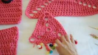 "Double Crochet ""in The Dog House "" Pet Bed #1"