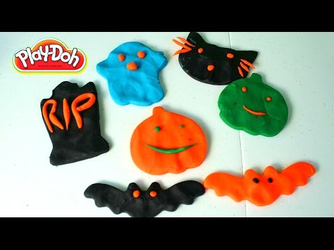 Halloween Figuras de Plastilina Play-Doh| Halloween Play Doh Spooky Creations