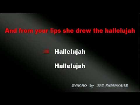 Hallelujah KARAOKE [Leonard Cohen] -  Alexandra Burke Style