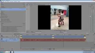 як зробити вертикальне відео квадратним в соні вегас про 13