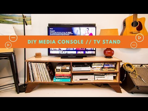 MODERN DIY TV STAND // Plywood Media Console