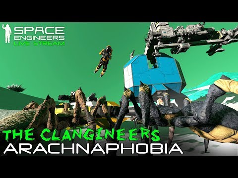 Space Engineers: ARACHNAPHOBIA - 'Clangineers' Alien Survival #2 (Bugs + Meteors + Planetary Bases)