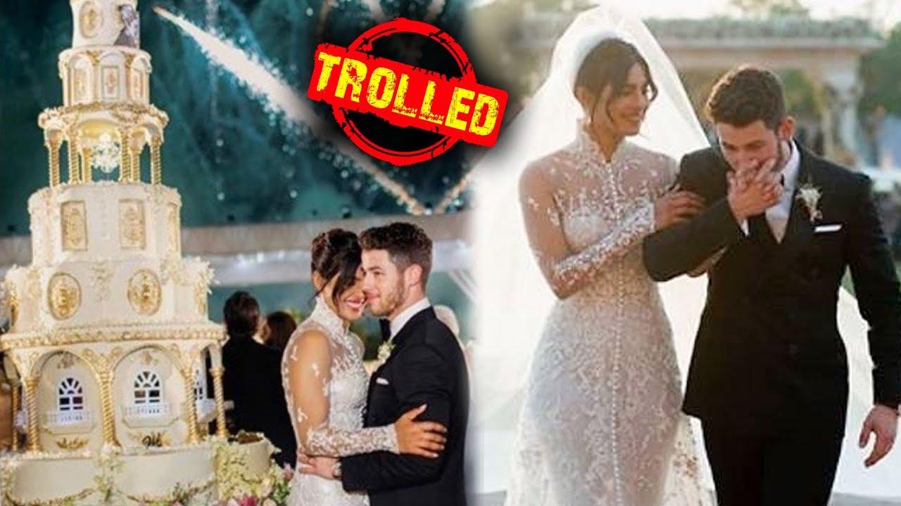 Priyanka Chopra Nick Jonas Get Badly Trolled For Wedding Dress And