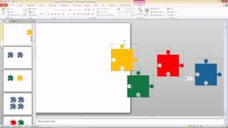 สาธิตการทำภาพ Jigsaw สำหรับ PowerPoint 2007, 2010