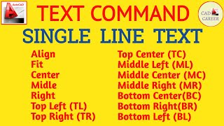 How to write Text in AutoCAD | Text command | Single-Line TEXT in AutoCAD
