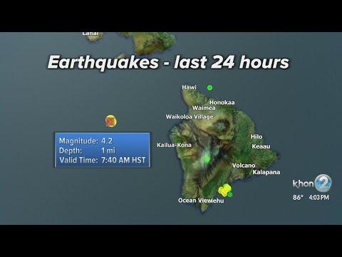 No tsunami threat after 4.2 magnitude earthquake shakes west of Hawaii Island