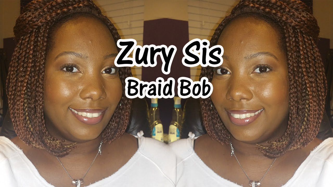 Zury Sis Synthetic Afro Lace Braid Bob Lopsided