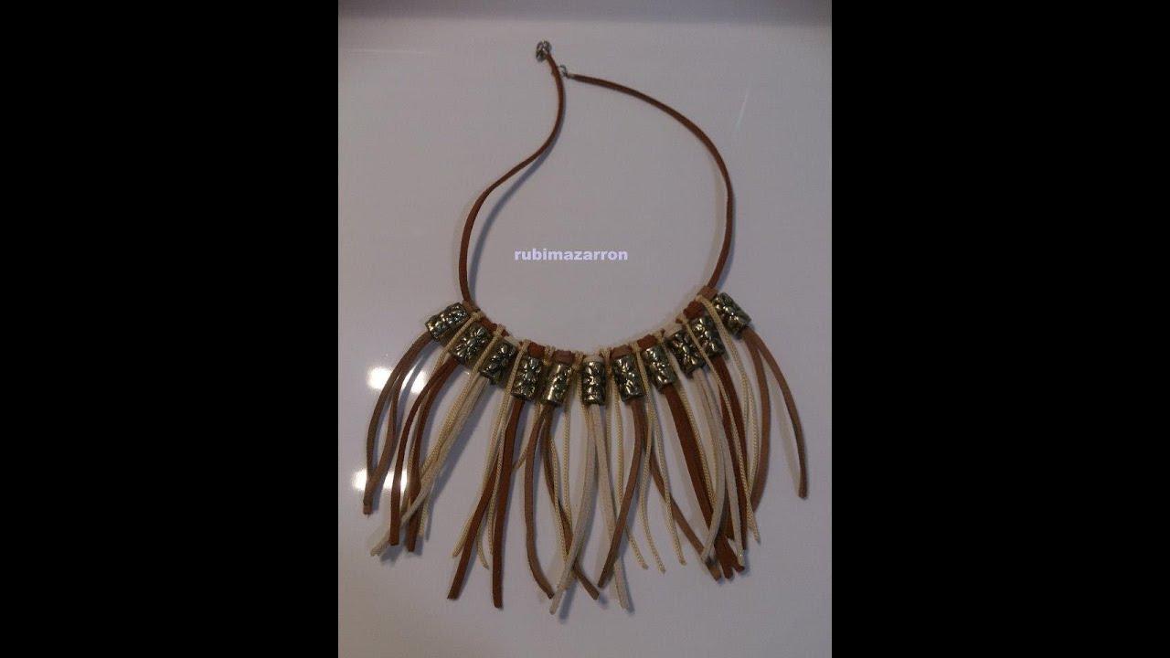 055a0f429f09 DIY  Como hacer un collar Indio - YouTube