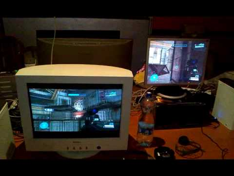 Halo 2 LAN Party!!! Original Xboxes, splitscreen, and CRT's.