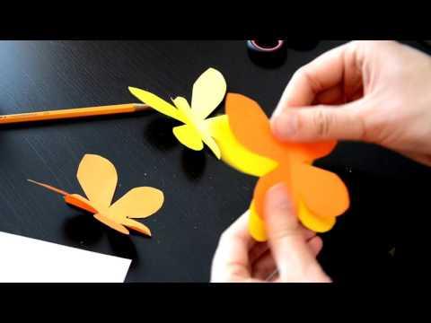 Как вырезать бабочку из бумаги своими руками поэтапно