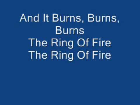 Johnny Cash The Ring Of Fire with lyrics